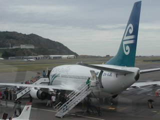 Air New Zealand B737, taken from the Club's bar