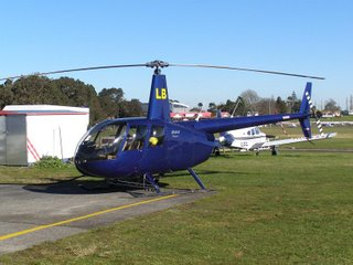 Robinson R44 ZK-HLB refueling at Auckland Aero Club