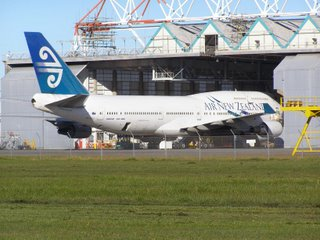 Air NZ B747 in maintenance