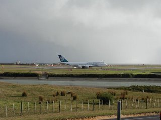 Air New Zealand B747-400. Ready for takeoff NZAA rwy 23