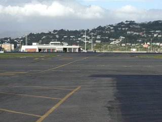 Wellington International Airport Western Apron, across taxiway W2 to Fire/Rescue station