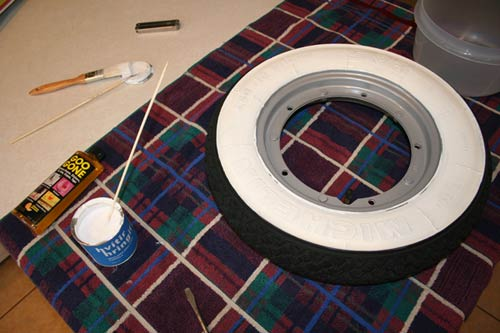 Whitewall Tire Paint Lication How To