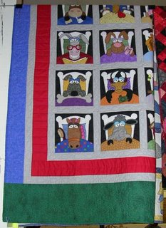 applique animals quilt