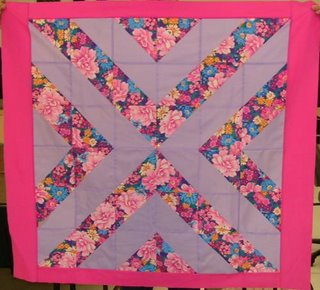 quilt top made with half square triangles