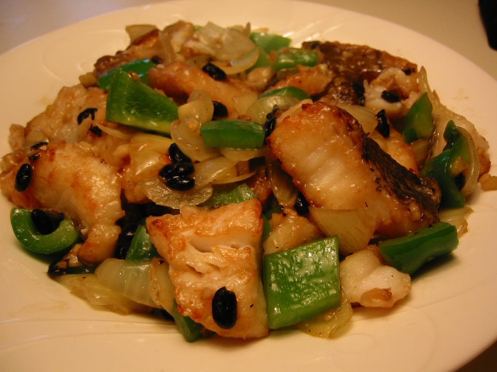 English patis stir fried fish with black beans for Fish fillet sauce