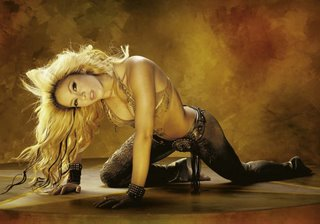 Shakira forgetting to not wear clothes again