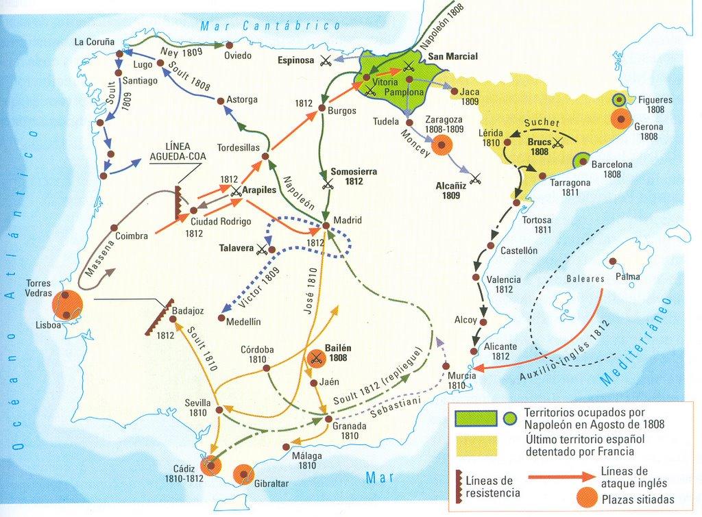 Mapa de la Guerra de la Independencia