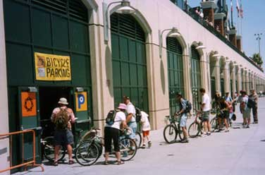Image of bike parking at San Francisco Giants
