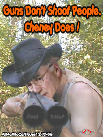 Cheney dick joke shooting