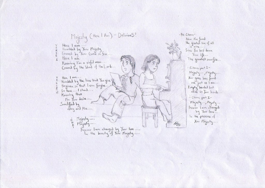 Lyric lyrics to majesty : dreamtrooper: Majesty(Here I am)-Delirious lyrics...damn,I still ...