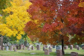 Fairmount Cemetery in the Autumn by Joe Beine