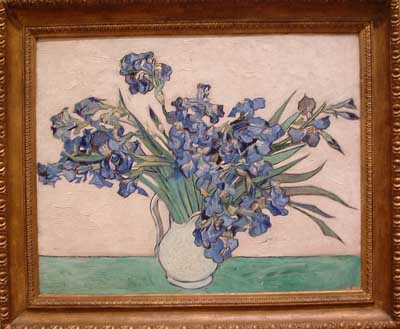 Irises by Vincent van Gogh, the Met, NYC