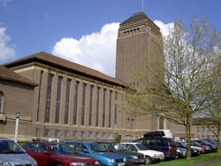 Cambridge University library, showing the tower