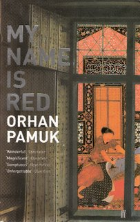 My Name is Red bookcover; Faber & Faber