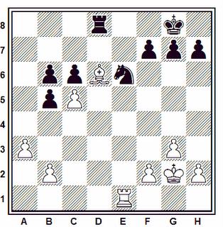 Posición de la partida de ajedrez Marotti - Cala (Italia, 1937)