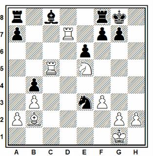 Posición de la partida de ajedrez Gubnizky - Wais (correspondencia, 1978)