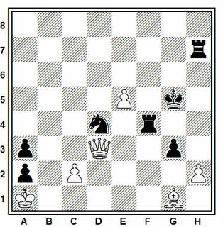 Posición de la partida de ajedrez Vander - Papevic (correspondencia, 1982)
