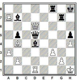 Posición de la partida de ajedrez Sigurjonsson - Vizantiadis (Skopje. 1972)