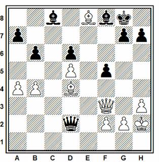 Posición de la partida de ajedrez Torre - Wirtenshon (Dubai, 1986)