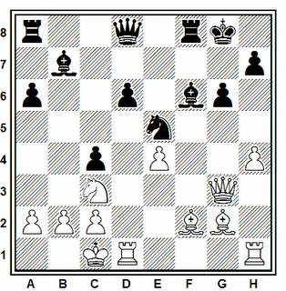Posición de la partida de ajedrez Sevareid - Liabotro (Noruega, 1982)