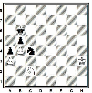 Posición de la partida de ajedrez Hebden - Wedberg (Malmoe, 1987)