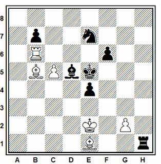 Posición de la partida de ajedrez Iván Vallés - Alberto Pastor (Collado Villalba, 2006)