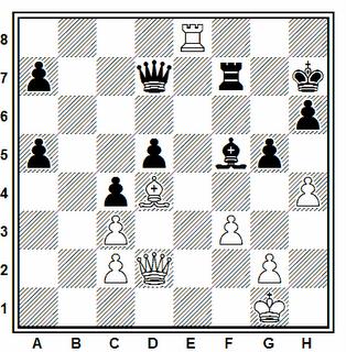 Posición de la partida de ajedrez GM Piotr Bobras - WGM Tatiana Kononenko (15th Monarch Assurance Isle of Man, 2006)