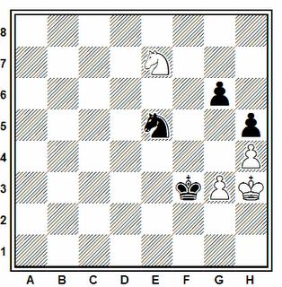 Posición de la partida de ajedrez Ginés - Trías (Correspondencia, 1981)