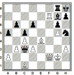 Posición de la partida de ajedrez Bastian - Marjan (Alemania, 1985)