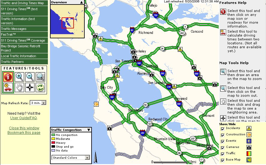 511 Bay Area >> At Least One Cool Thing 511 Traffic