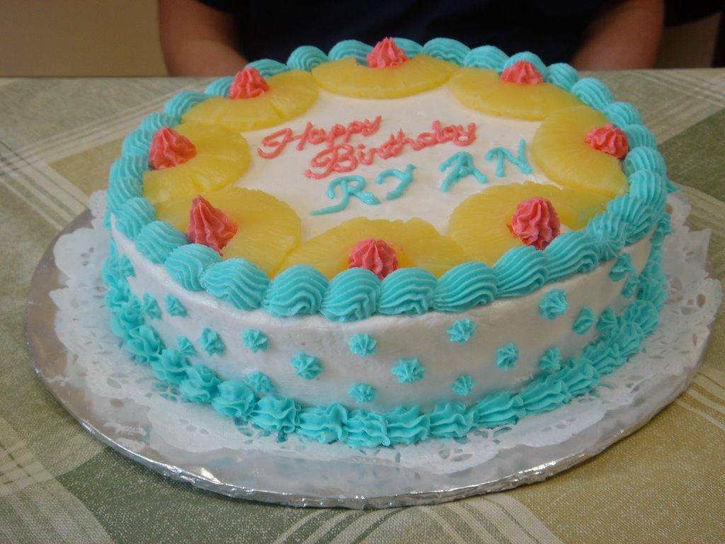 Mlyu S Cake Design Pineapple Cake For February Birthday Star