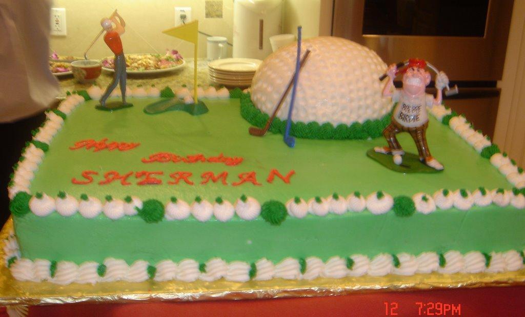 Mlyu S Cake Design My Husband 50th Birthday Cake Golf Course
