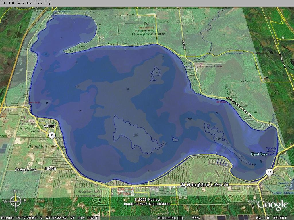higgins lake fishing map Fishing Report Houghton Lake Map higgins lake fishing map