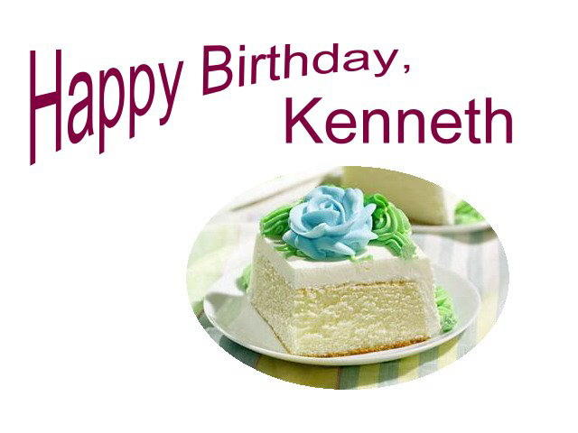 Happy Birthday Kenneth Cake Images