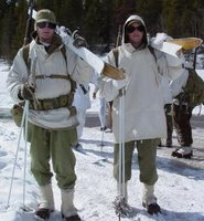 World War II ski trooper reenactors. Photo by Chas S. Clifton. All rights reserved.