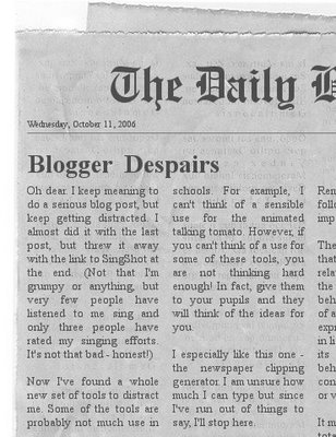 Fake newspaper clipping