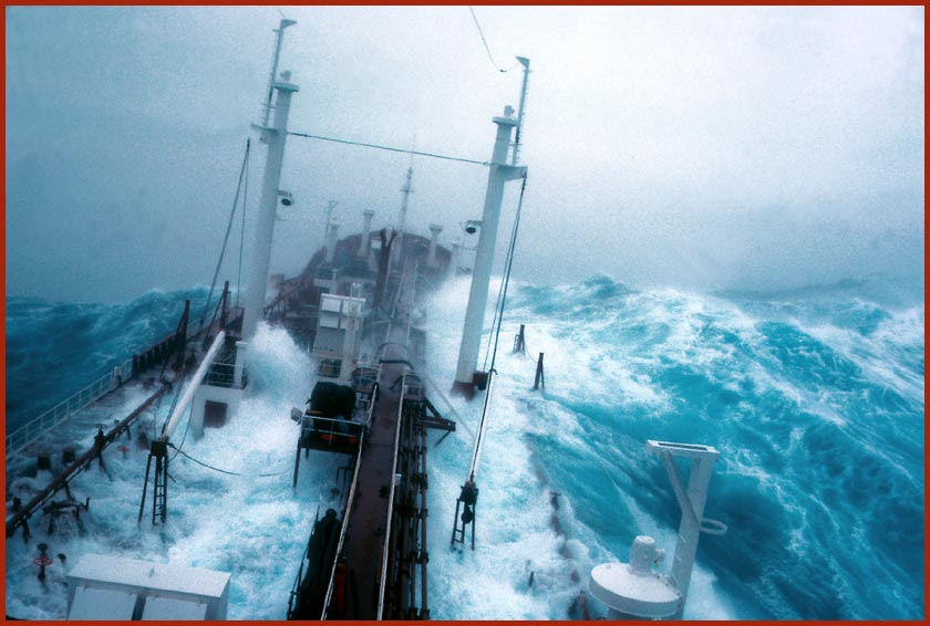 Freaque Waves: Story of a real life storm encounter