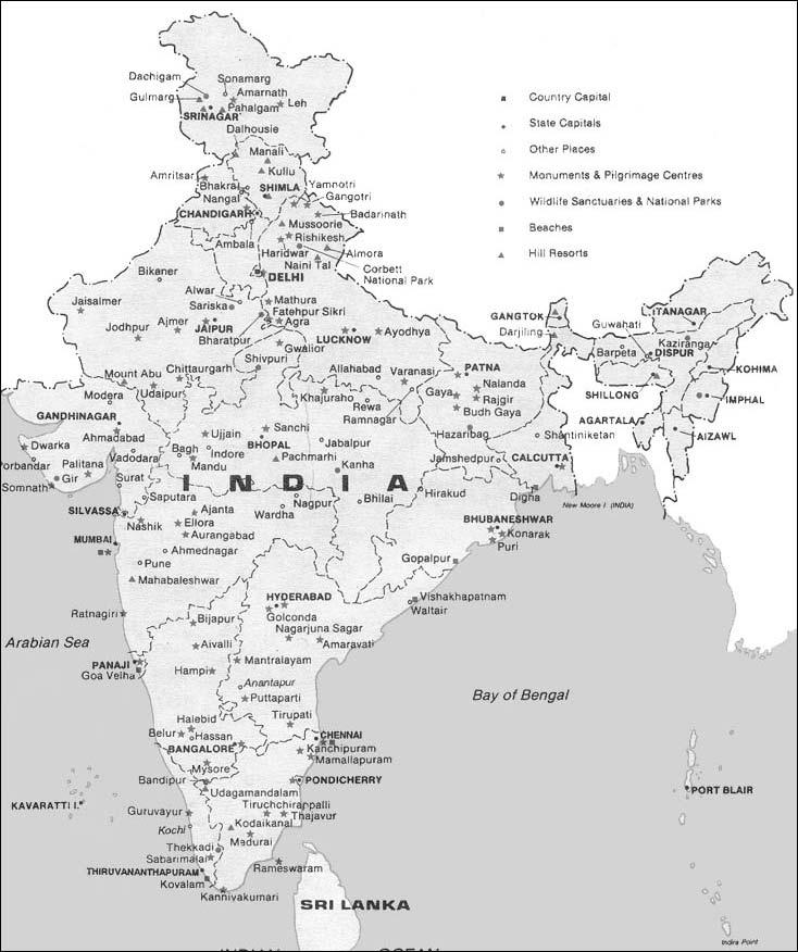 Rastiretki Intiaan Intian Kartta