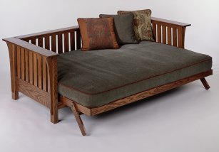And It Could Double As A Guest Bed Until We Get The Upstairs Done I Found Futon Frame Online At Creative Futons That Looks Like Craftsman Style