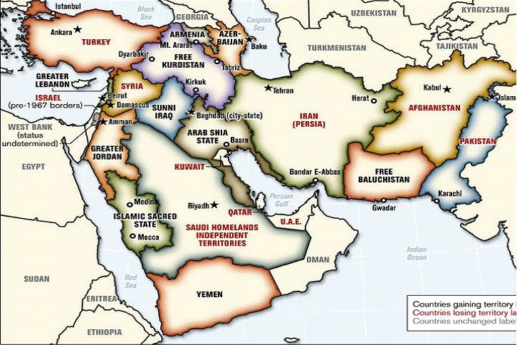 My Beloved Lebanon The New Middle East Map After