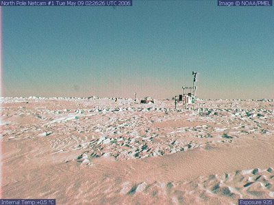 The North Pole from WebCam #1 on 9 May 2006