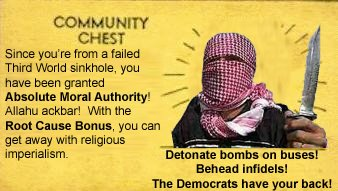 Islamic terrorist Absolute Moral Authority card