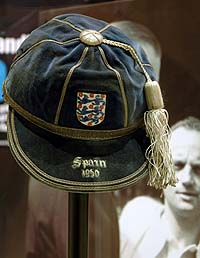 The exhibition includes Sir Stanley Matthews' England cap from