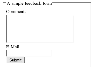 A simple form.