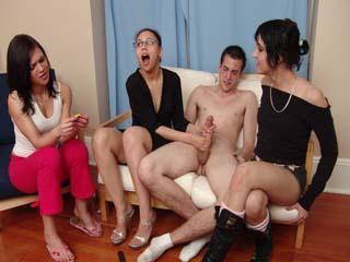Clothed woman naked men vidieos