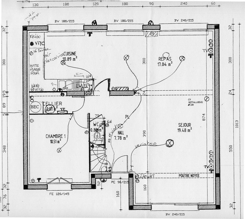 premi re maison plans lectriques. Black Bedroom Furniture Sets. Home Design Ideas