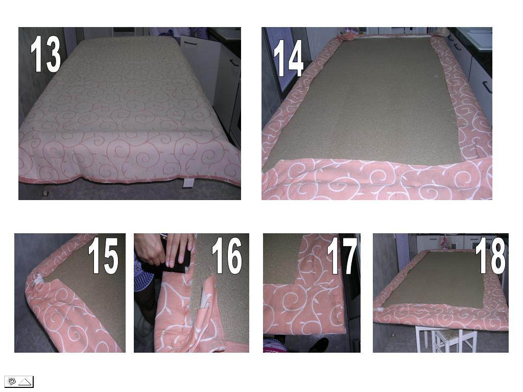 Bricologia cabecero de cama - Telas para forrar cabecero cama ...
