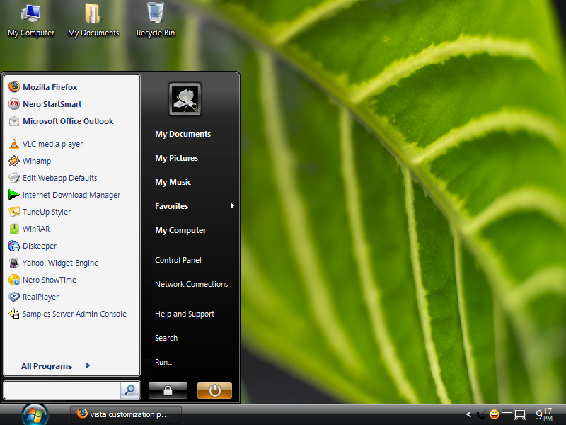 Customize Windows xp to Windows Vista