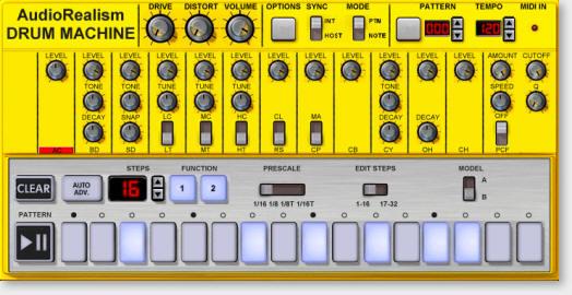 audiorealism drum machine