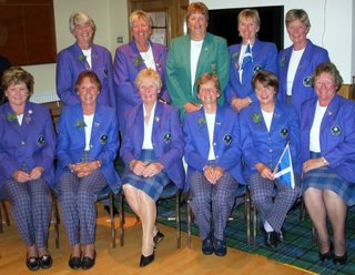 The Scottish Seniors Team with Mary McKenna - Ireland -- click to enlarge